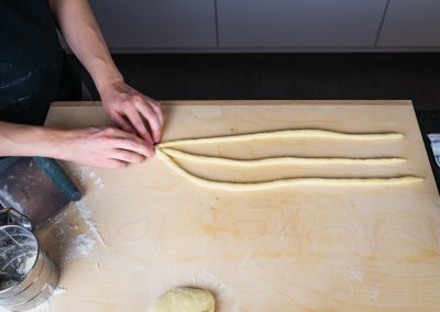 Paska Traditional Slovak Easter Bread Start Braid