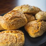Sesame Bread Rolls With Yoghurt