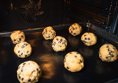 Chewy Chocolate Chip Cookies Cookie Dough Before Baking