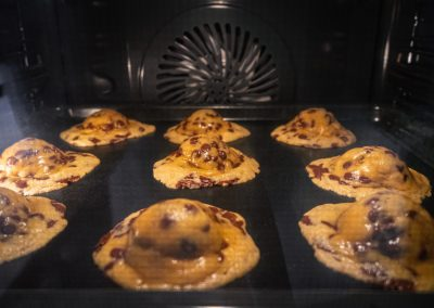 Chewy Chocolate Chip Cookies Cookie Dough While Baking