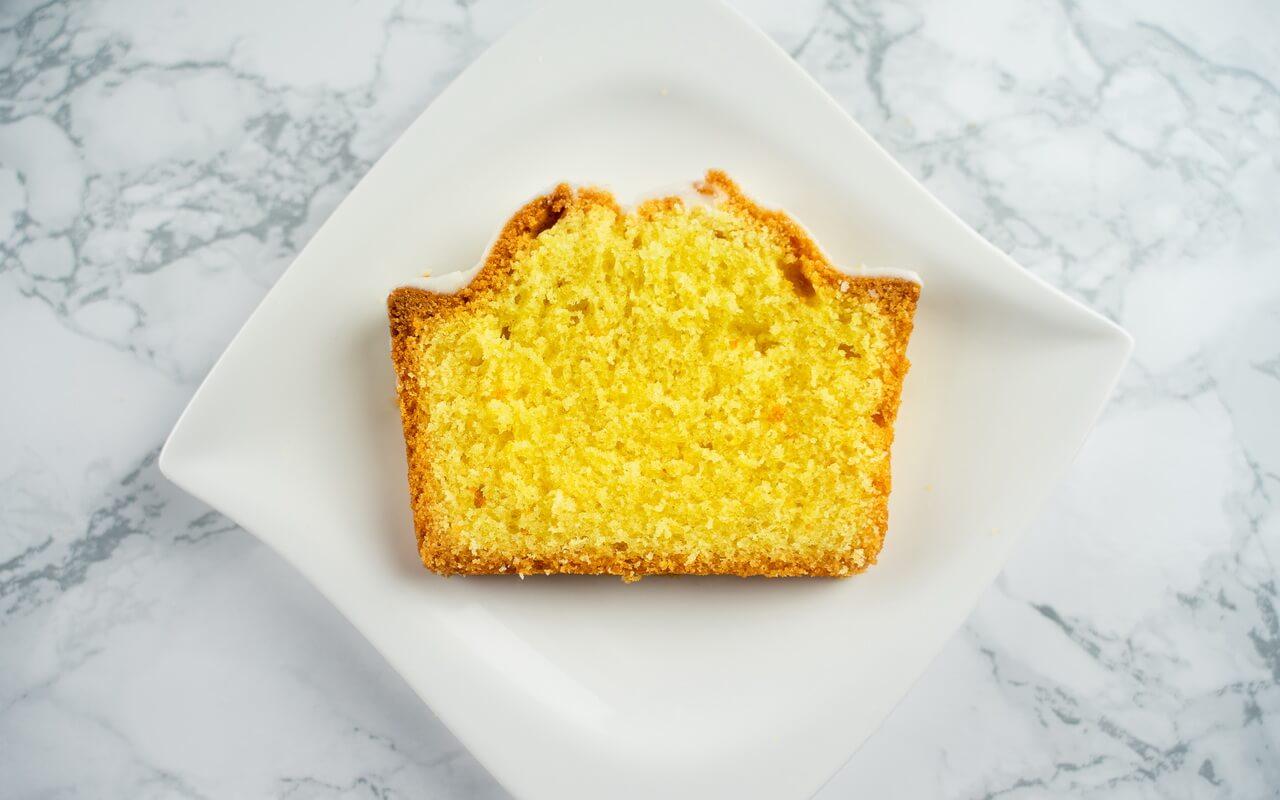 Simple Lemon Cake Single Piece