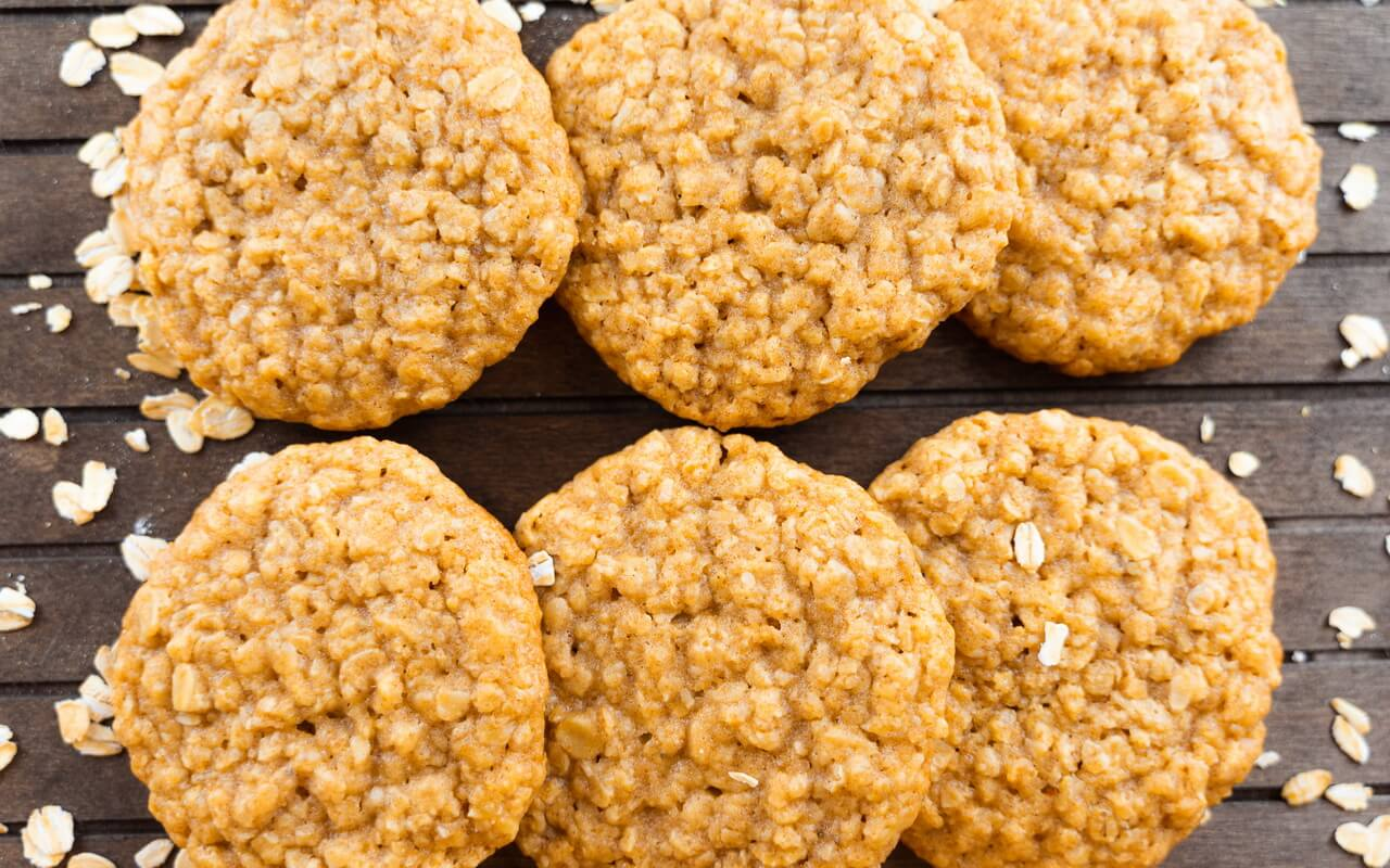 Soft And Chewy Oatmeal Cookies Close up