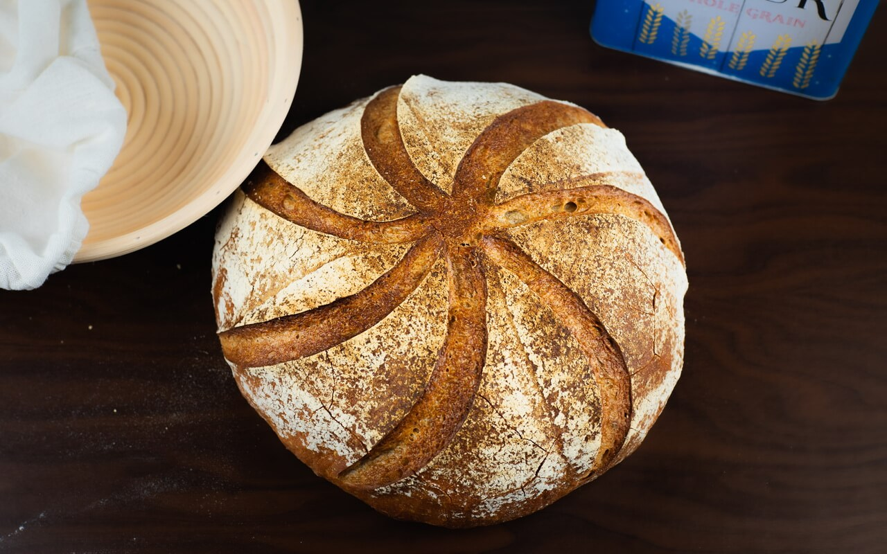 Sourdough Bread With 65 Hydration Crust