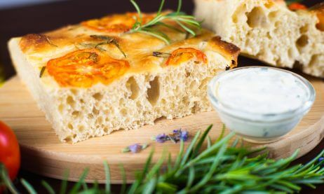 Sourdough Focaccia With Rosemary And Tomatoes