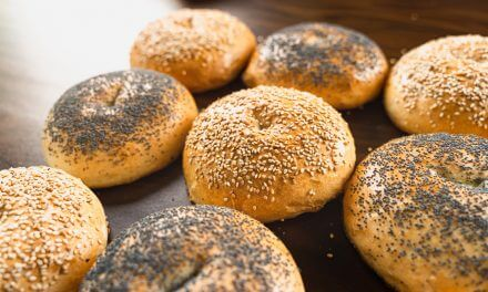 Huge Bread Rolls With Sesame And Poppy Seeds