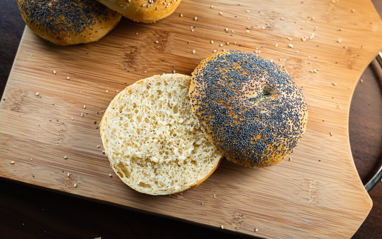 Huge Bread Rolls With Sesame And Poppy Seeds Crumb Poppy Seeds