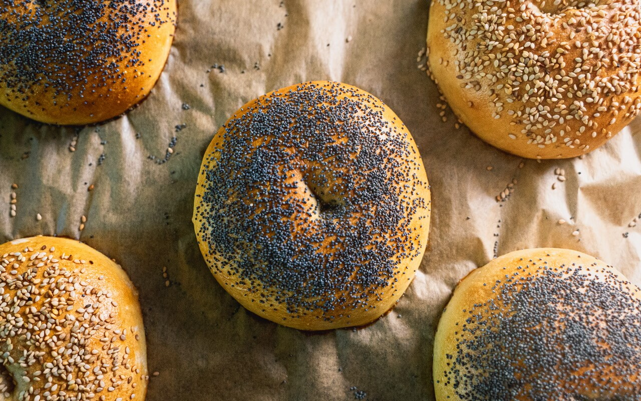 Huge Bread Rolls With Sesame And Poppy Seeds Poppy Seed Crust