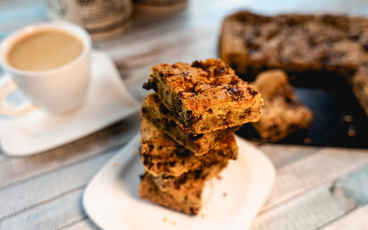Chewy Chocolate Chip Cookie Bars Tower