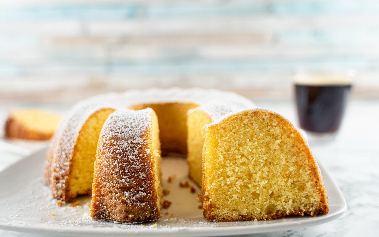Classic Vanilla Bundt Cake Inside
