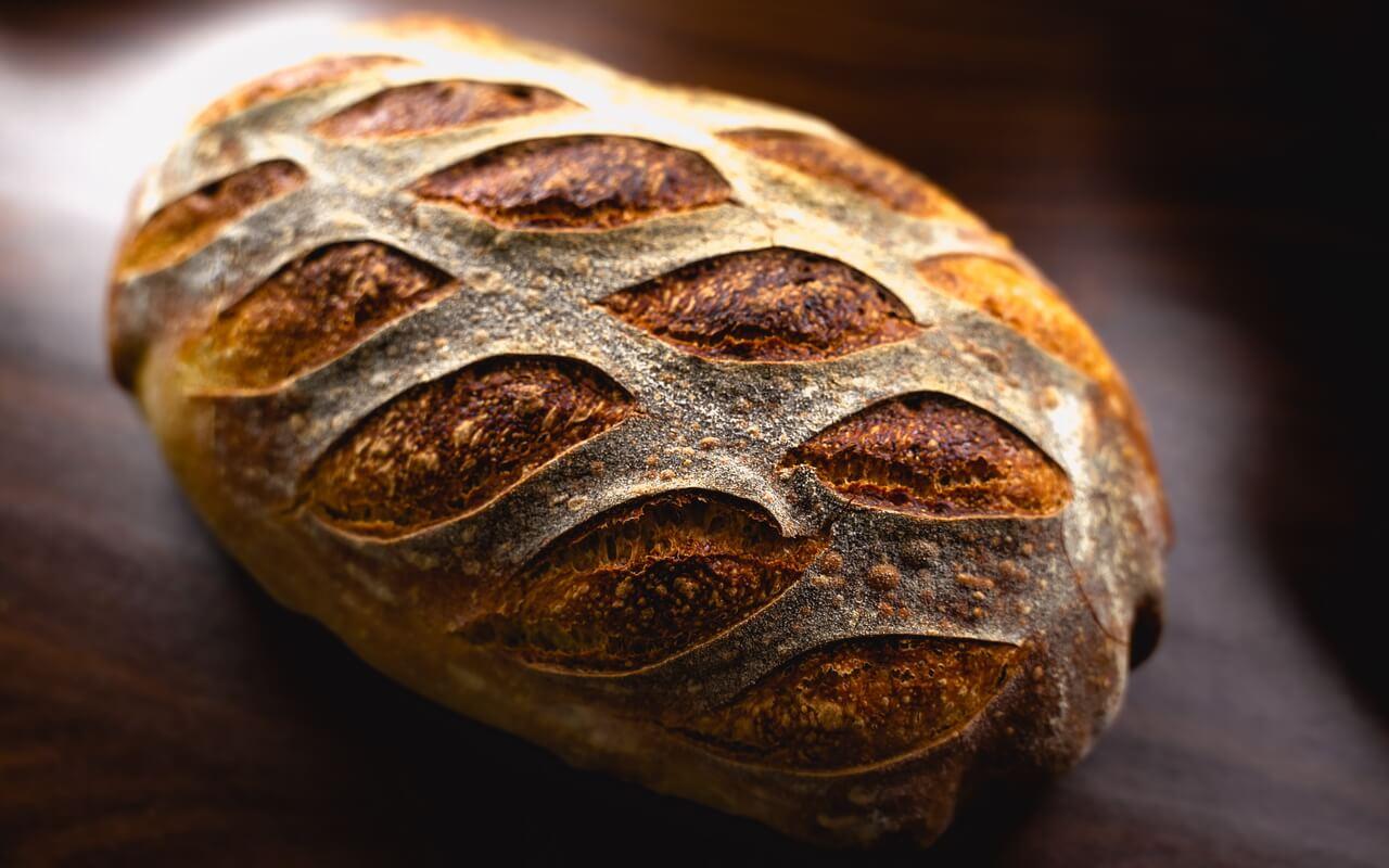 White Spelt Flour Sourdough Bread Crust