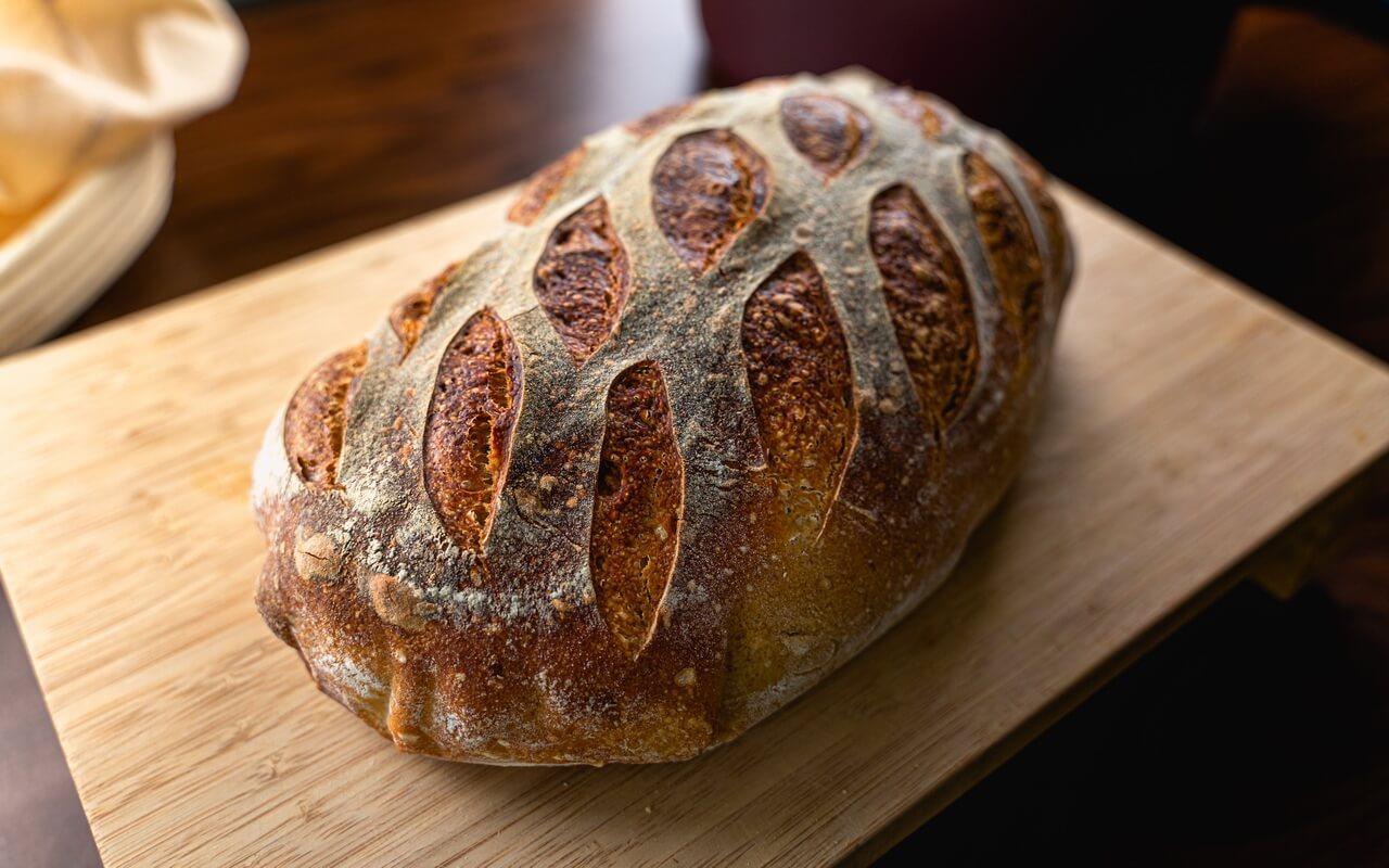 White Spelt Flour Sourdough Bread Short Side