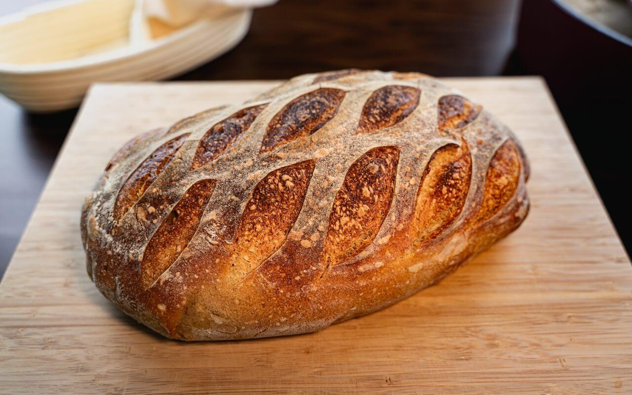 White Spelt Flour Sourdough Bread Side View