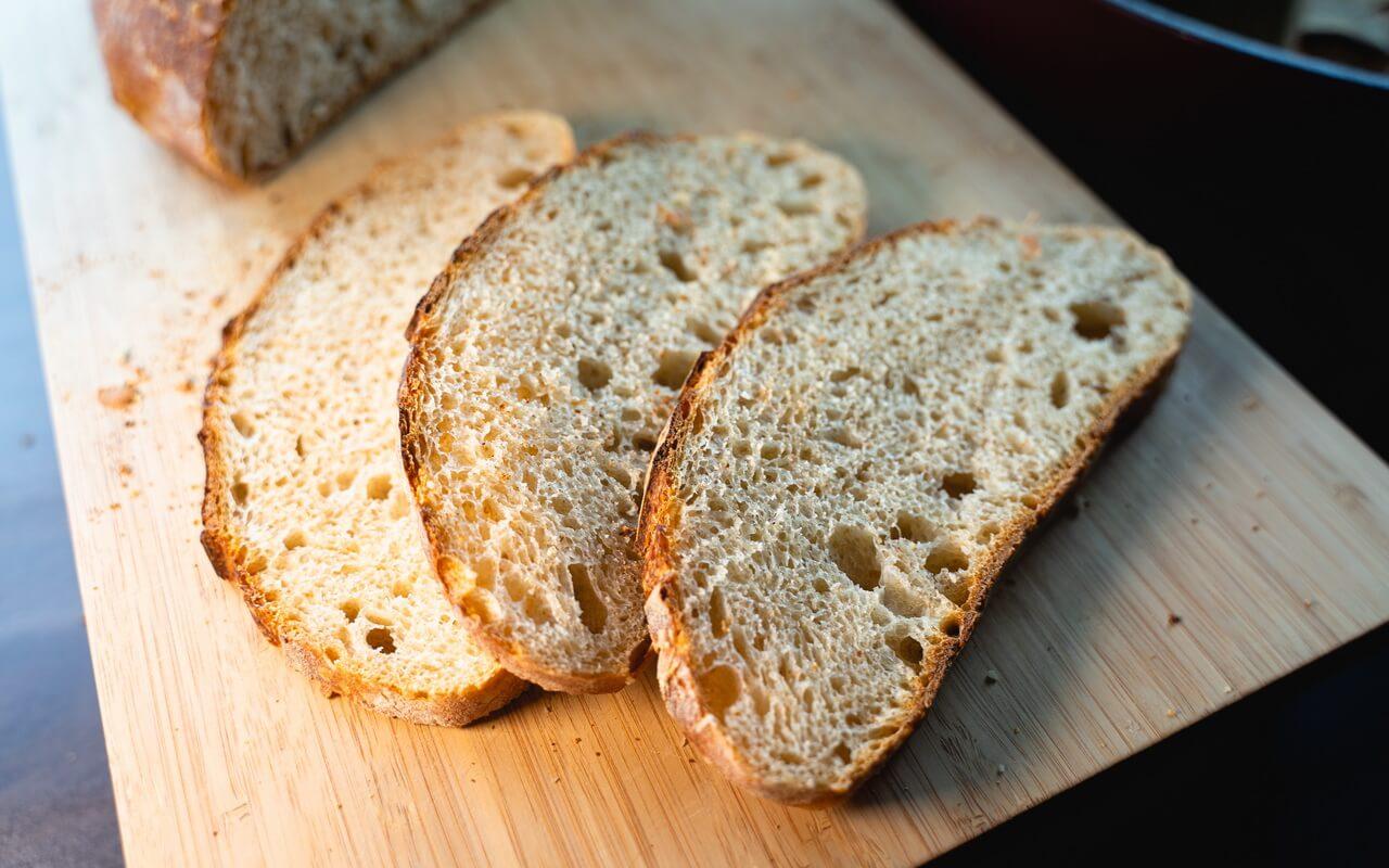 White Spelt Flour Sourdough Bread Slices