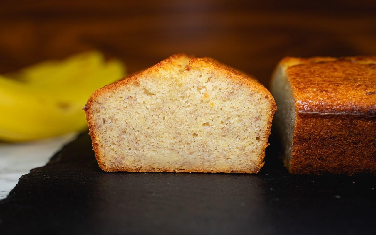 Moist Banana Bread Crumb