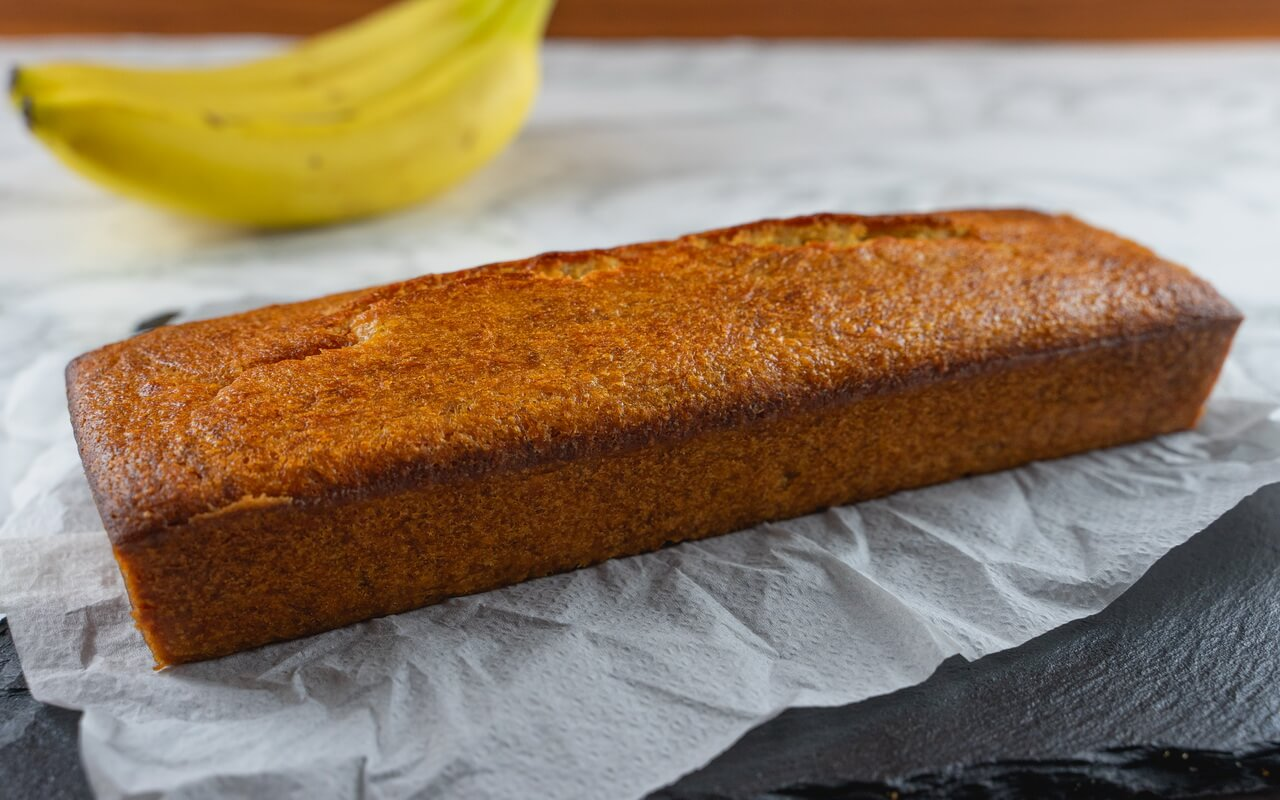 Moist Banana Bread Crust