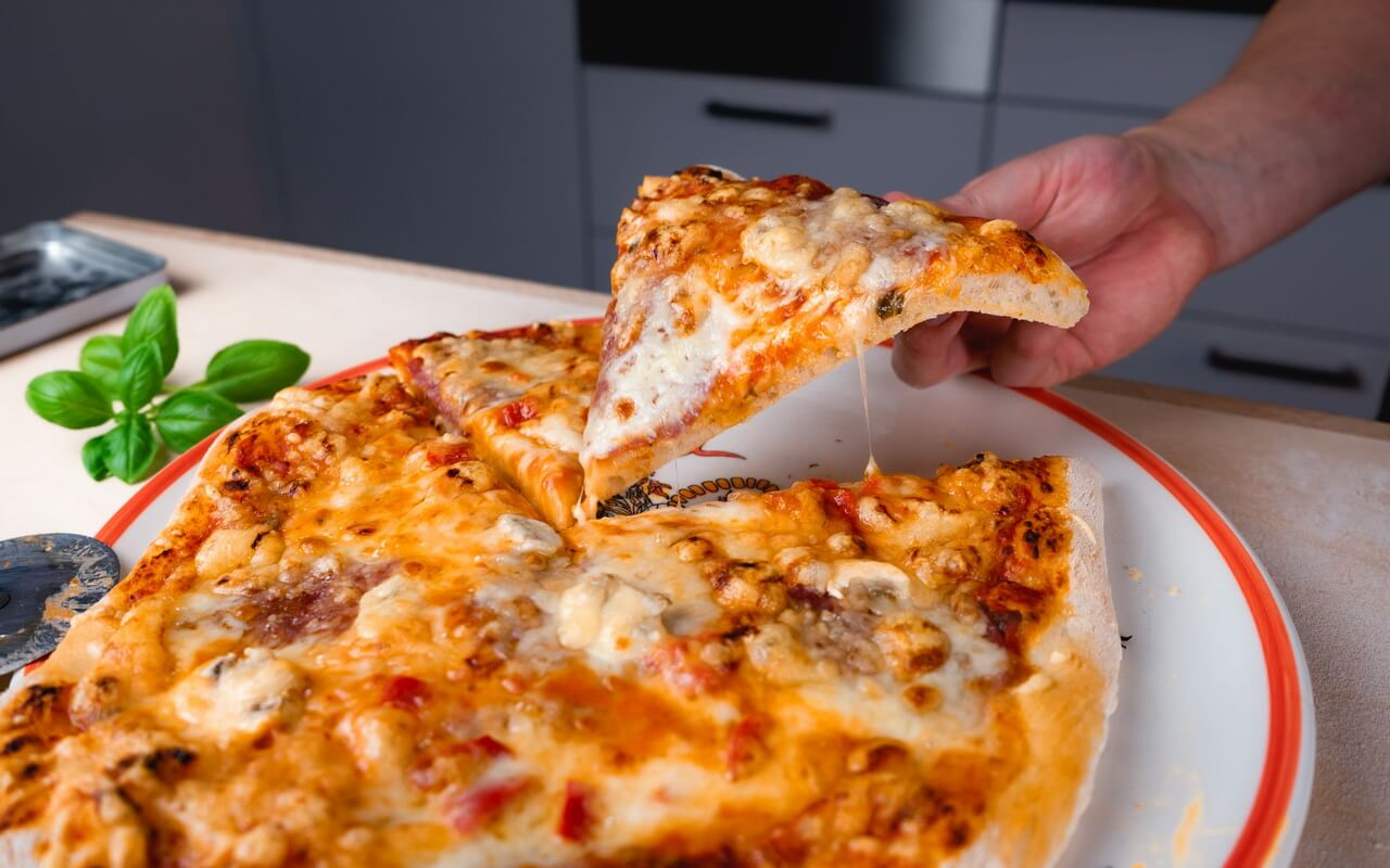 Pizza Dough With All purpose Flour Pizza Slice