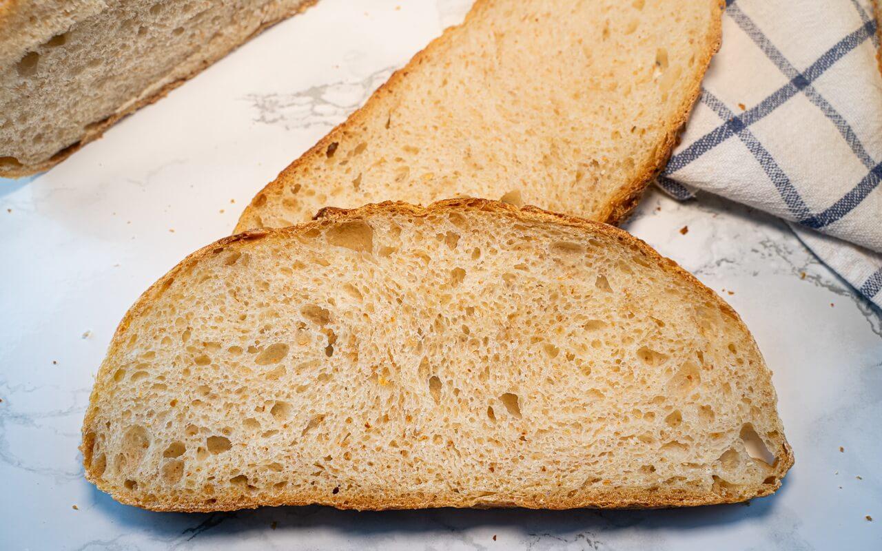 Sourdough Bread With Olive Oil Crumb