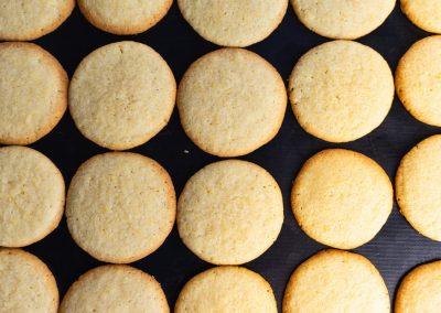 Lemon Sugar Cookies After Baking Top View