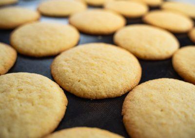 Lemon Sugar Cookies After Baking Without Glaze