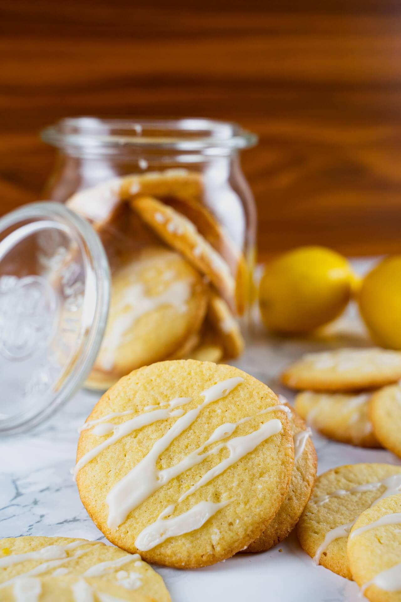 Lemon Sugar Cookies Close up