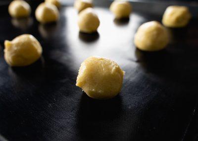 Lemon Sugar Cookies Shaped Close up
