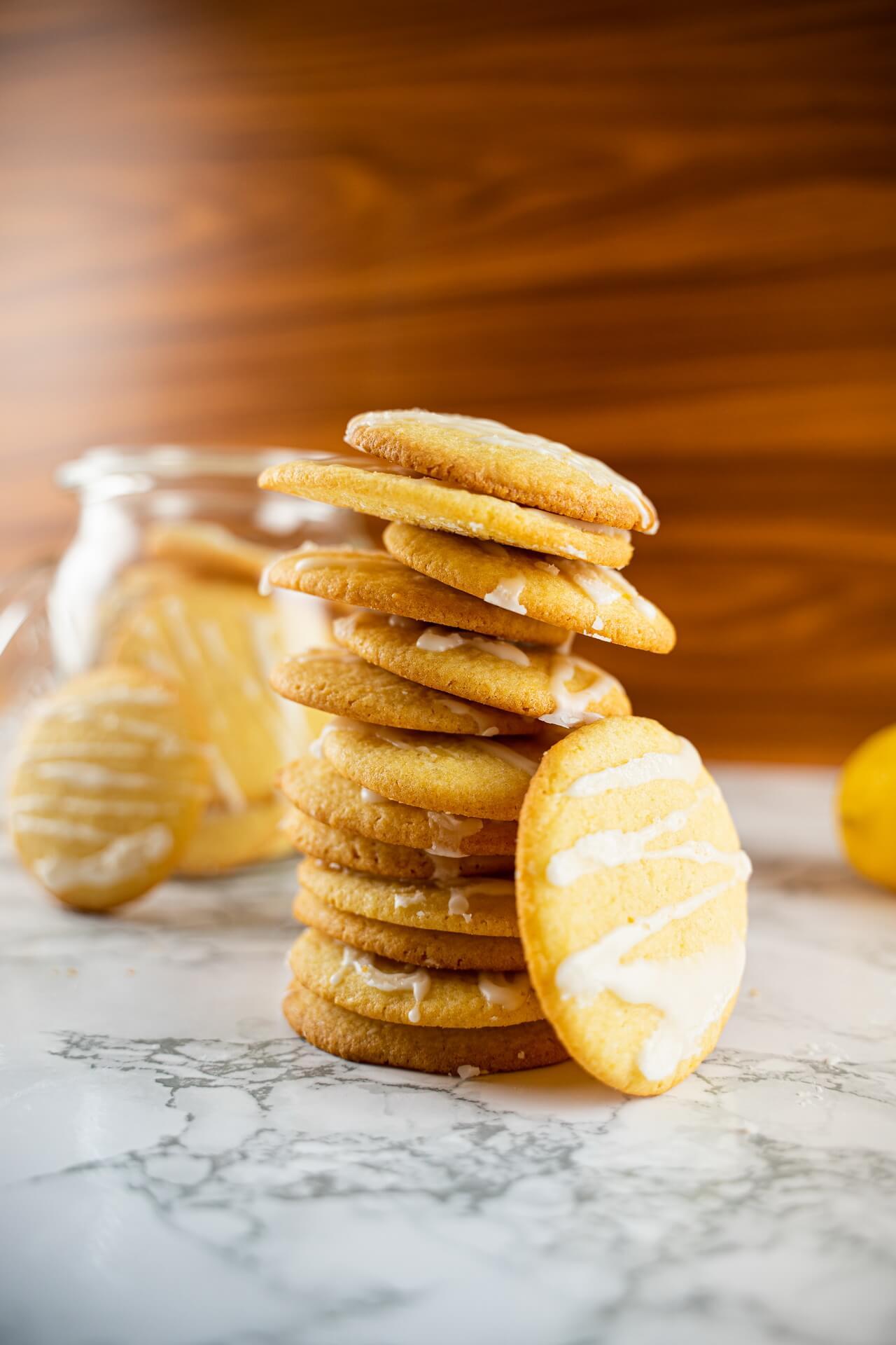 Lemon Sugar Cookies Tower Vertical