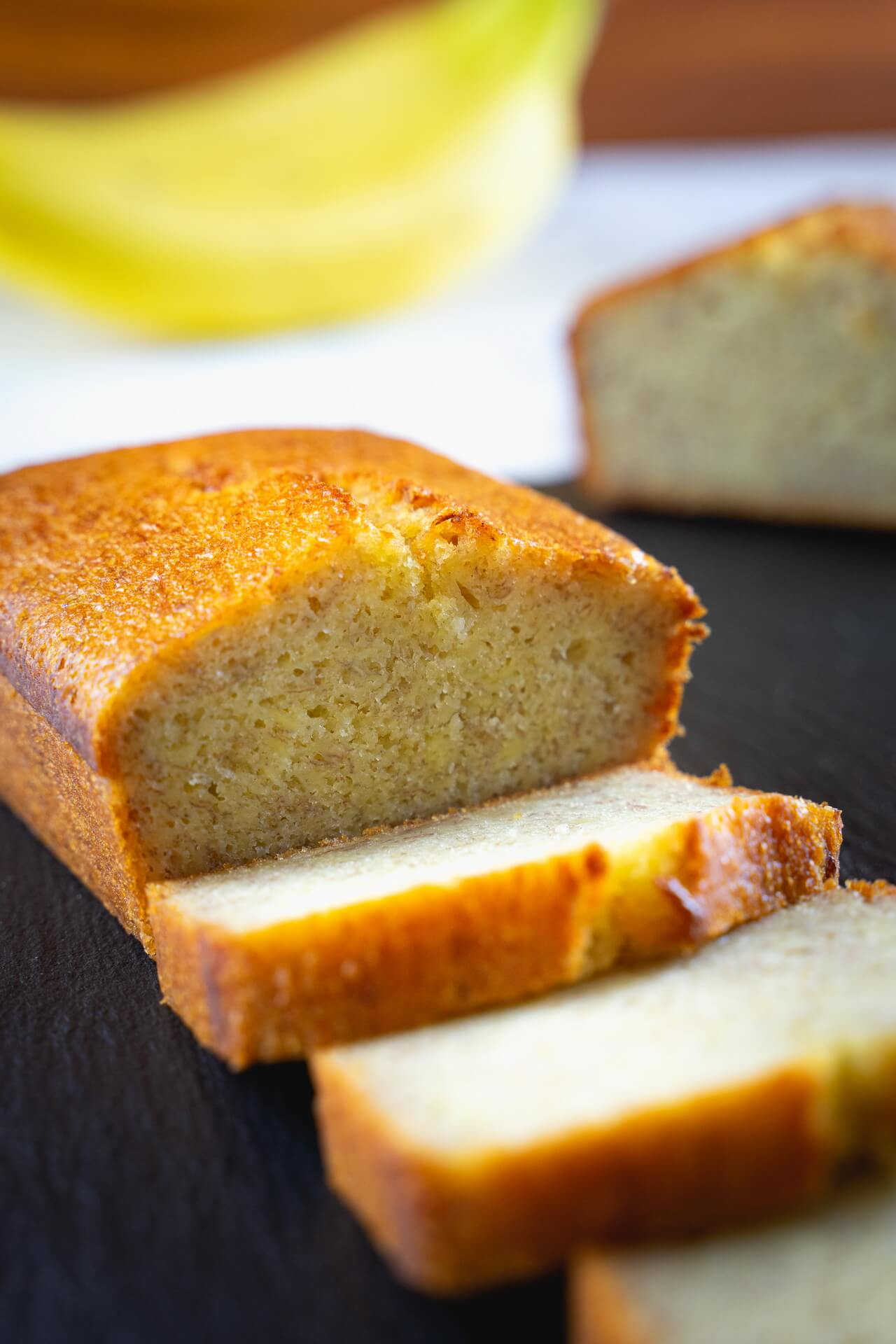 Moist Banana Bread Vertical View