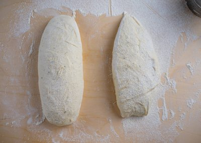 Quick And Easy Ciabatta Bread Shaping Shaped On The Left