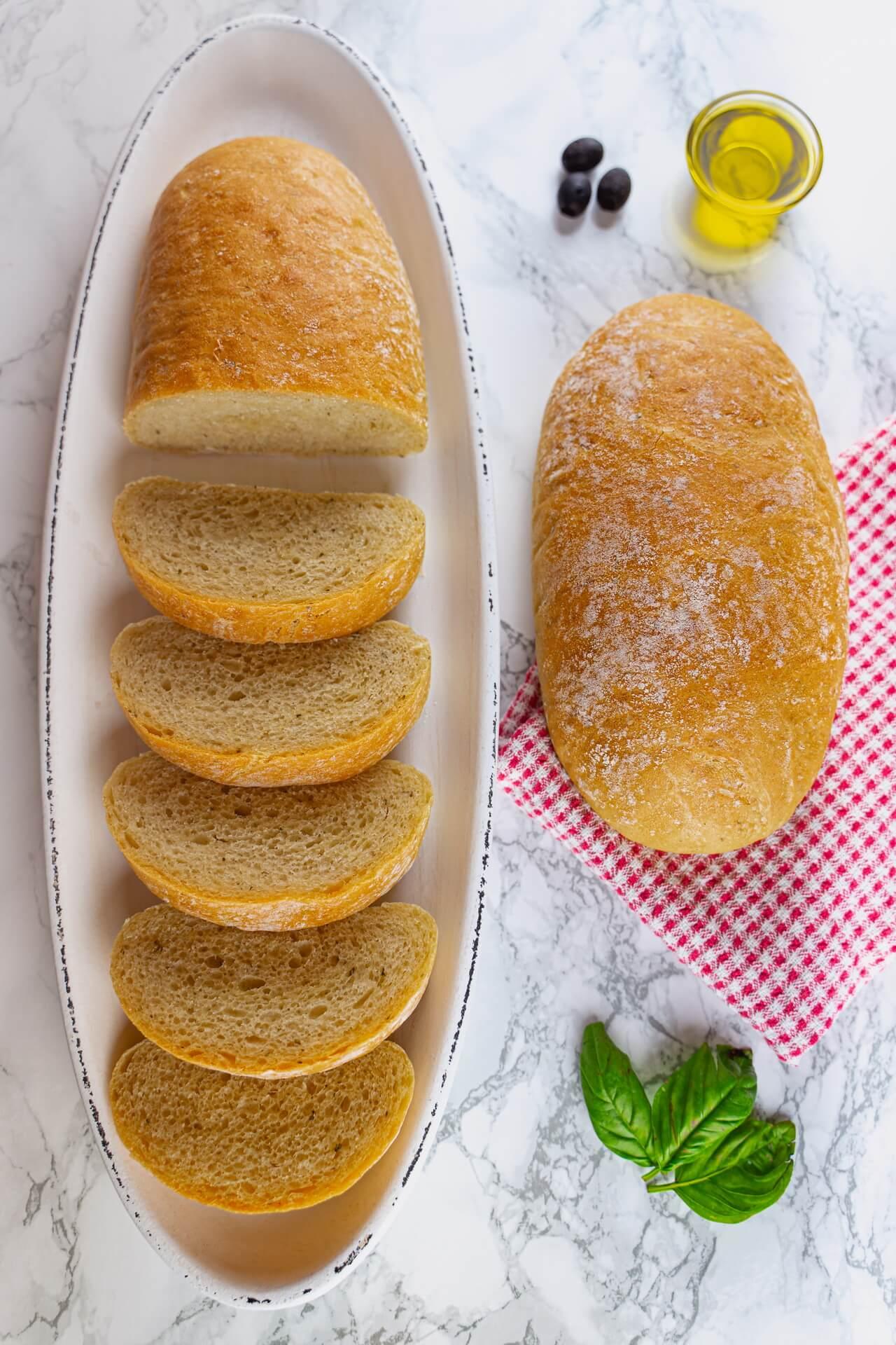 Quick And Easy Ciabatta Bread Vertical