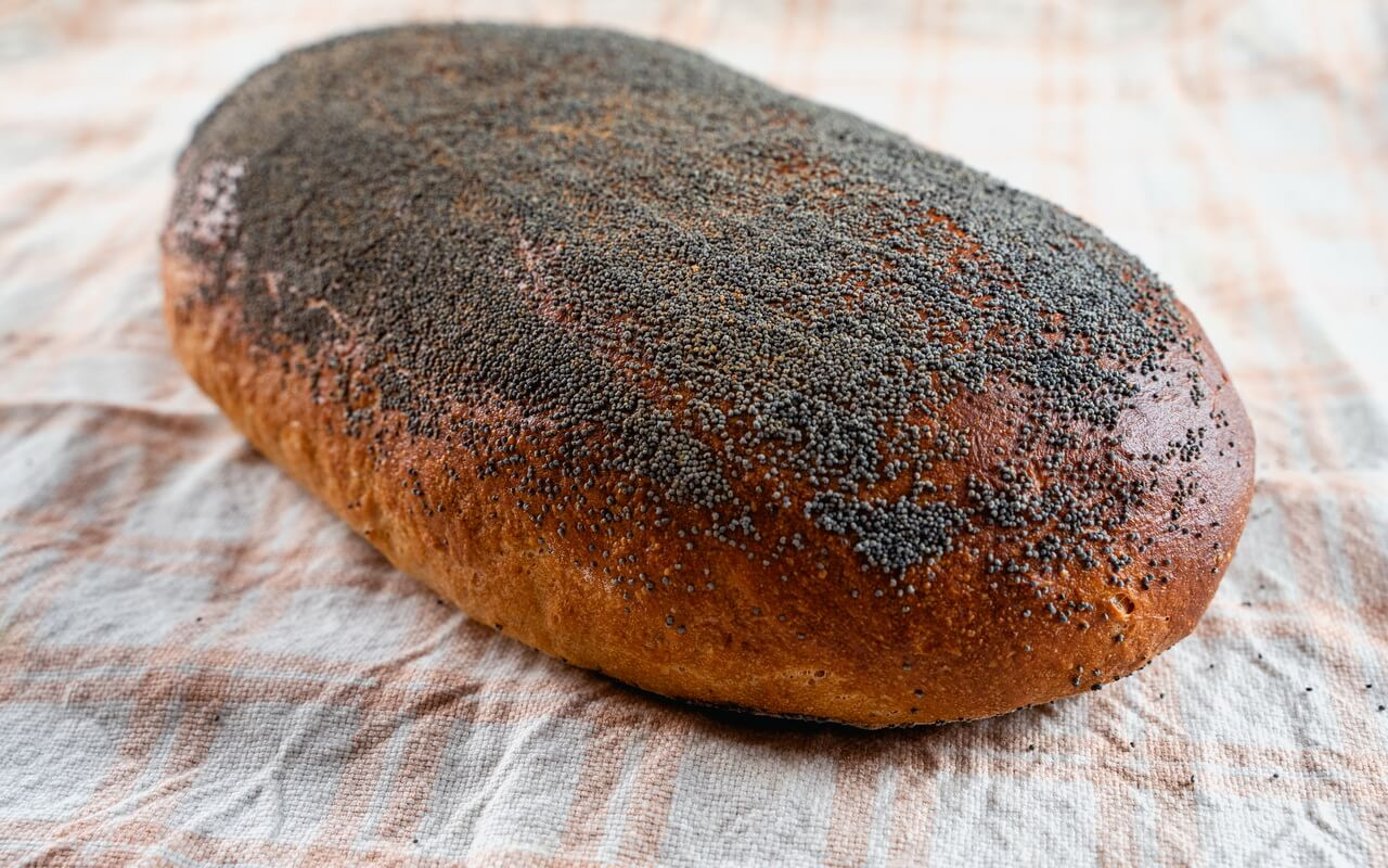 Sourdough Bread With Poppy Seeds Crust