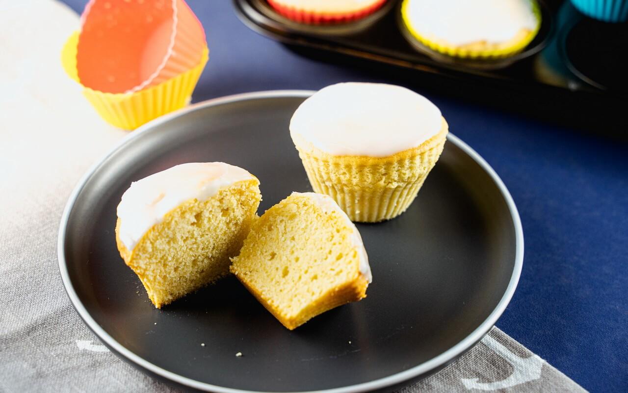Basic Muffin Recipe With Sugar Glaze Sliced Muffin