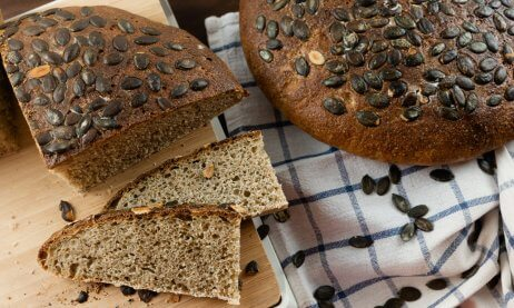 Hearty Pumpkin Seed Sourdough Bread