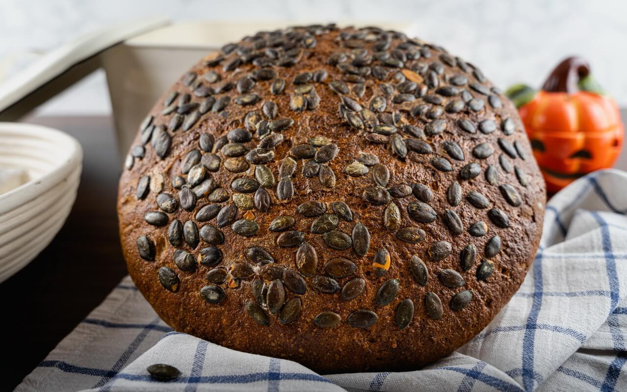 Hearty Pumpkin Seed Sourdough Bread Crust