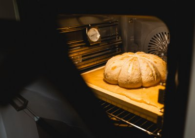 Pumpkin Spice Sourdough Bread Baking
