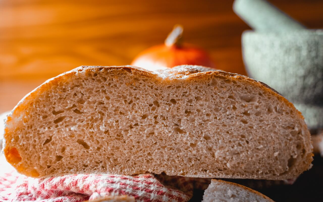 Pumpkin Spice Sourdough Bread Crumb