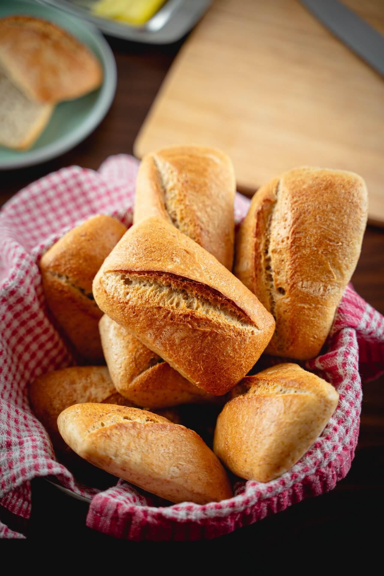 Simple Sourdough Breakfast Rolls Crust