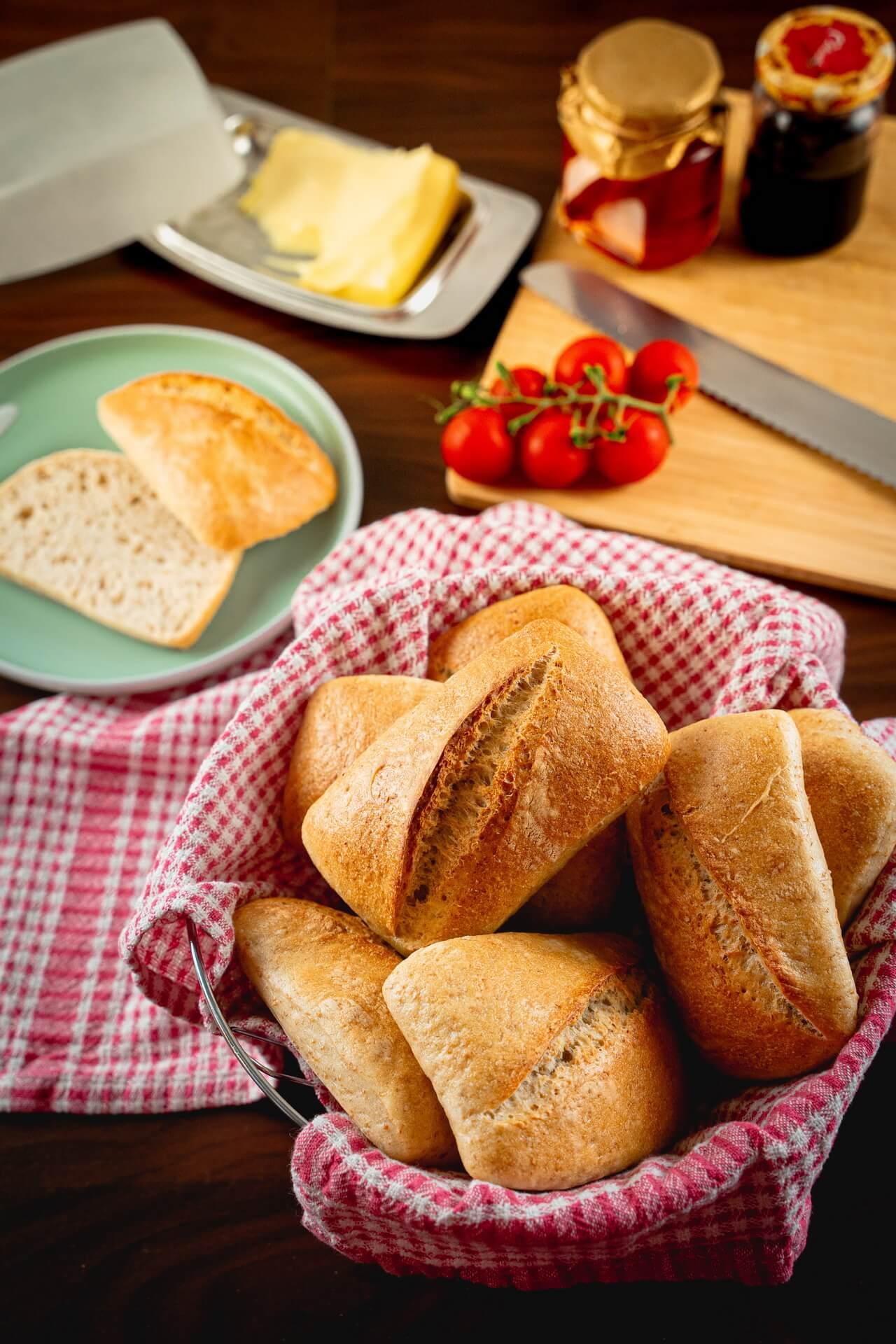 Simple Sourdough Breakfast Rolls Vertical