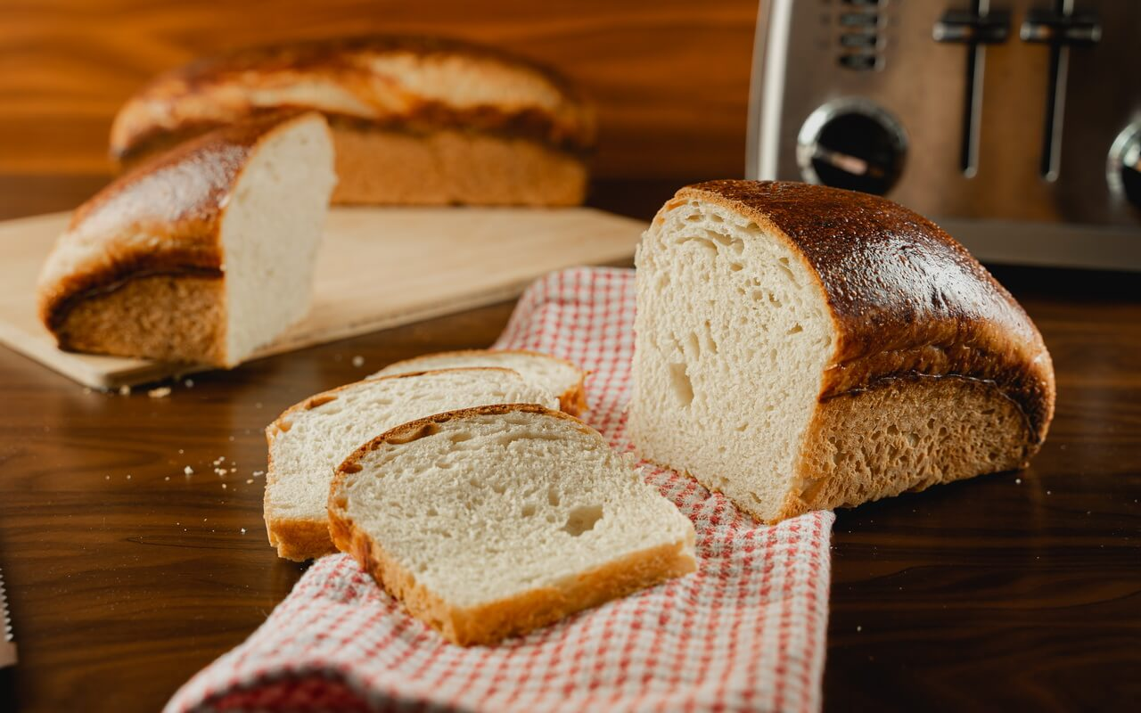 White Sourdough Sandwich Bread Crumb