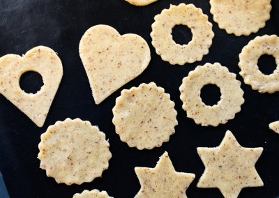 Traditional Linzer Cookies Before Baking