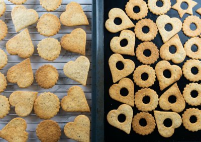 Traditional Linzer Cookies Preparation For Assembling