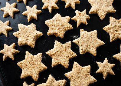 Zimtsterne Cinnamon Star Christmas Cookies Shaped Dough
