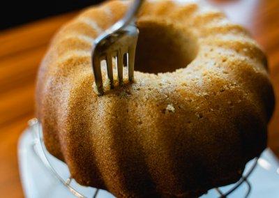 Moist Cinnamon Bundt Cake Poking Holes In Cake