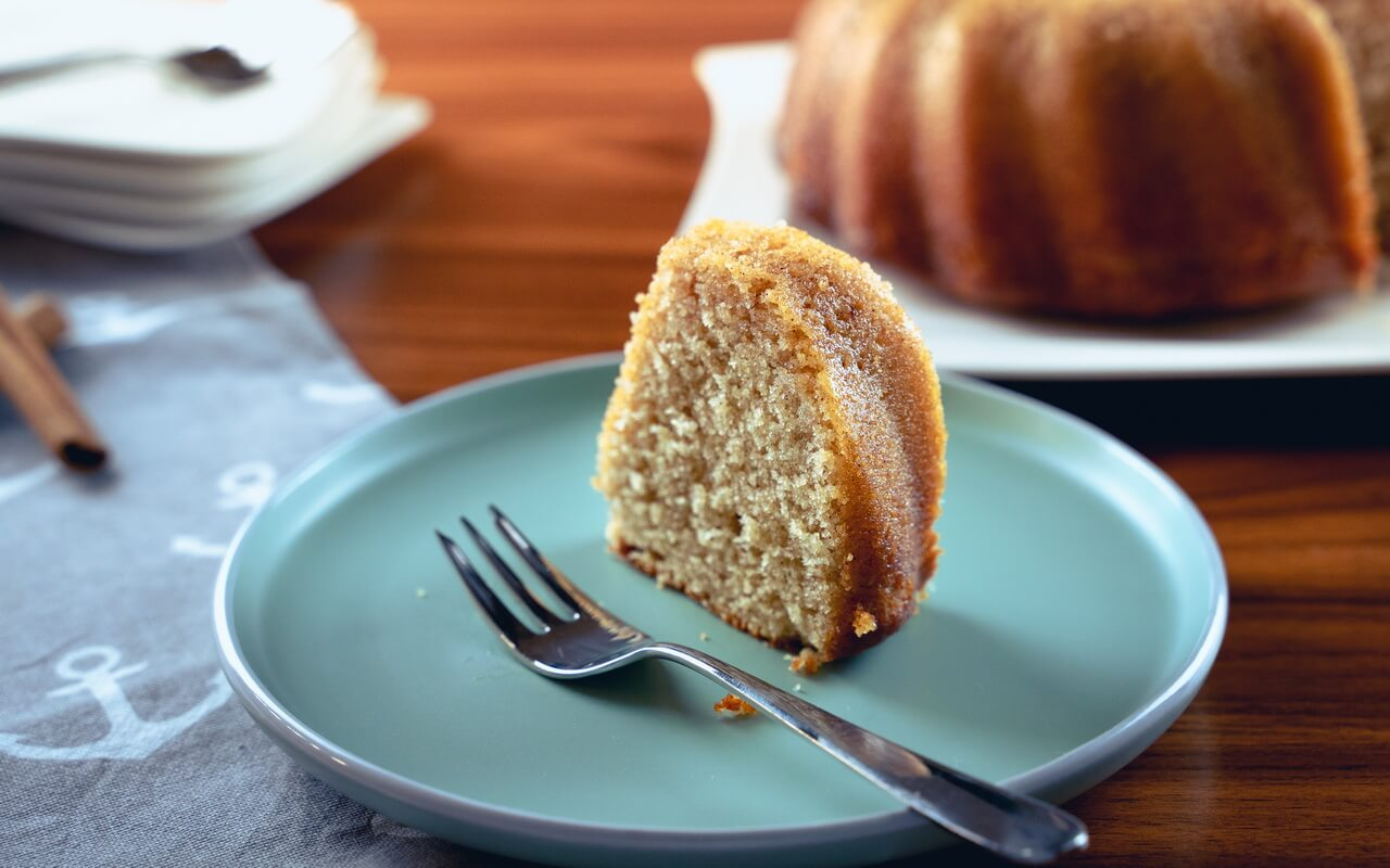 Moist Cinnamon Bundt Cake Single Piece